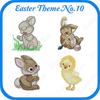 8 Easter Themed Embroidery Designs On Usb - No.10 - Pes Jef Hus Pcs Xxx Vp3