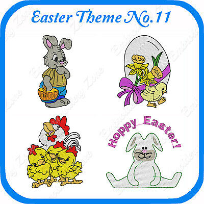 14 Easter Themed Embroidery Designs On Usb - No.11 - Pes Jef Hus Pcs Xxx Vp3
