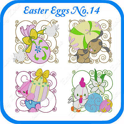 10 Easter Themed Embroidery Designs On Usb - No.14 - Pes Jef Hus Pcs Xxx Vp3