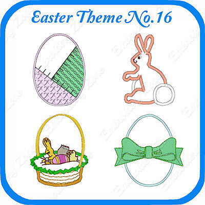 10 Easter Themed Embroidery Designs On Usb - No.16 - Pes Jef Hus Pcs Xxx Vp3