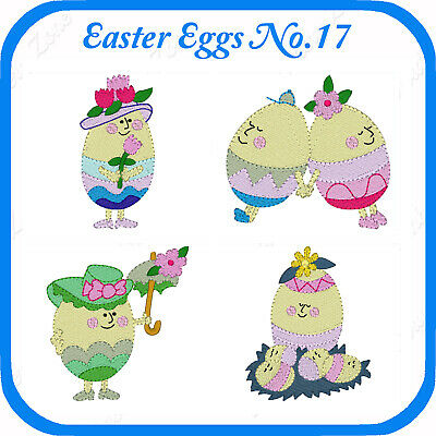 9 Easter Themed Embroidery Designs On Usb - No.17 - Pes Jef Hus Pcs Xxx Vp3