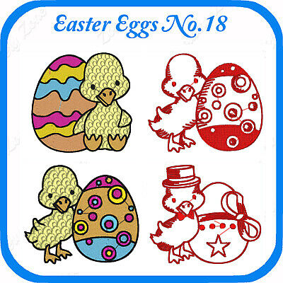 14 Easter Themed Embroidery Designs On Usb - No.18 - Pes Jef Hus Pcs Xxx Vp3
