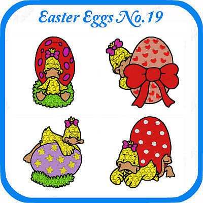 10 Easter Themed Embroidery Designs On Usb - No.19 - Pes Jef Hus Pcs Xxx Vp3