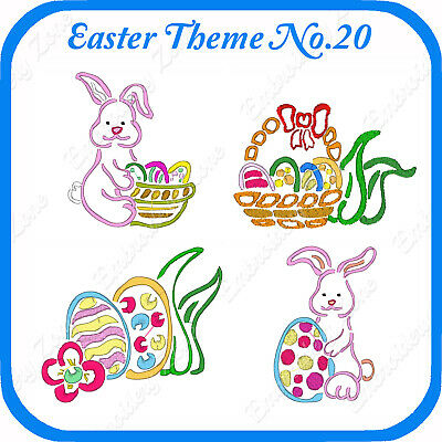 12 Easter Themed Embroidery Designs On Usb - No.20 - Pes Jef Hus Pcs Xxx Vp3