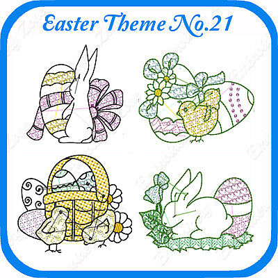 10 Easter Themed Embroidery Designs On Usb - No.21 - Pes Jef Hus Pcs Xxx Vp3