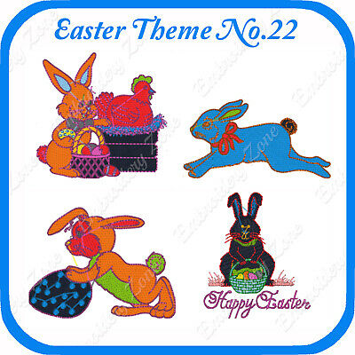 20 Easter Themed Embroidery Designs On Usb - No.22 - Pes Jef Hus Pcs Xxx Vp3