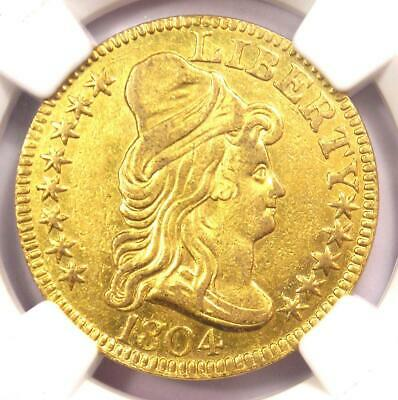 1804 Capped Bust Gold Half Eagle $5 - Certified NGC AU Details - Rare Gold Coin!