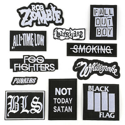 DIY Embroidered Words Slogan Sew Iron On Badge Patches Clothing Fabric Applique