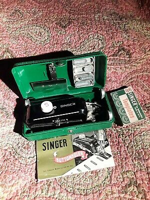 Singer Sewing Machine Buttonholer Attachment 160506 With Manual
