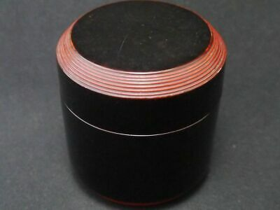 Japanese Traditional Lacquer Wooden Tea caddy Fubuki-Natsume Chaire 2 (829)