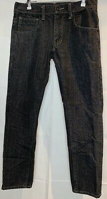 Levis 511 Mens Skinny Jeans Gray Zipper Fly Pockets Dark Wash Denim 32 X 30