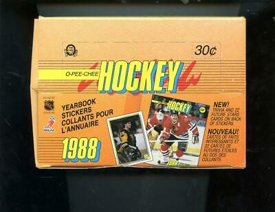 1988-89 O-Pee-Chee Hockey Yearbook Sticker Card Set Wax Pack Box 1989 OPeeChee