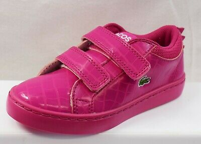 Lacoste Straightset 119 Infant Girls Trainers  Brand New Size Uk C9 (Cu15)
