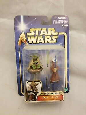 Star Wars Attack of the Clones Yoda and Chian Action Figure Set - NEW - 2003