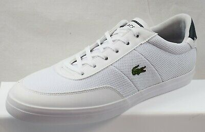 LACOSTE COURT-MASTER 118 1 CAM NVY//WHT CANVAS TRAINERS UK 6-11