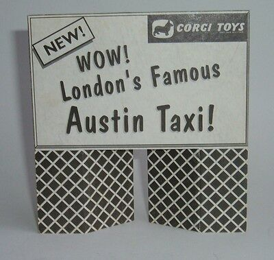 Corgi Toys 1960's Shop Display Sign for London Taxi, - Superb Mint Condition.