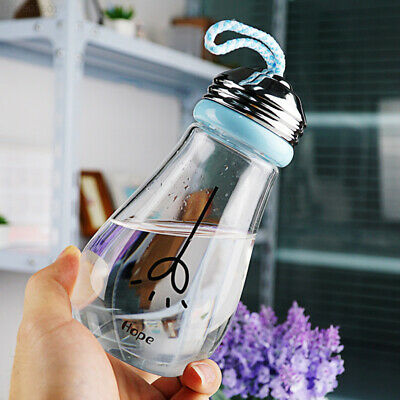 B459 Bulb Shape Water Bottle Bulb Drink Bottles Beer Insulated Thermal Creative