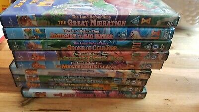 The Land Before Time Nearly Complete Collection Bundle Joblot 9 Dvd Uk R2 Releas