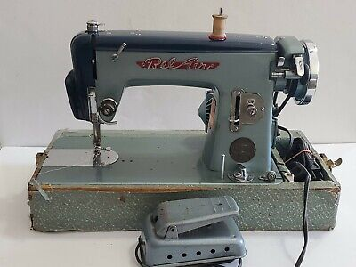 RARE Vintage Bel Air Two Tone Blue Sewing Machine Precision DeLuxe 1940s
