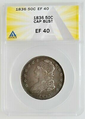 ANACS 1836 Capped Bust Half Dollar EF 40 Investment Grade Coin