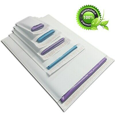 White Padded Envelopes Fluted Paper Flutelope Fully Recyclable and Biodegradable