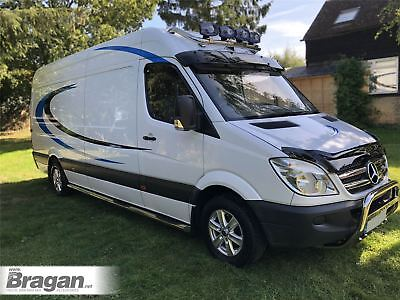 To Fit 06 - 14 Mercedes Sprinter Smoked Acrylic Bonnet Guard Deflector Protector