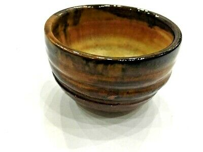 Vintage Chinese Song Dynasty Brown Glazed Fur Bowl Earthenware Hull pottery