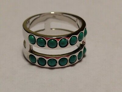 MILOR Turquoise Band Ring Size 9.25 (new) Signed Bronzo Italy