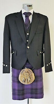 Cheiftain Passion Of Scotland Purple 8 Yard Deluxe Kilt Exclusive to us £49