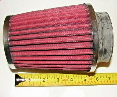 """RED 2.75 Inches 2.75/"""" 70mm Inlet Cold Air Intake Cone Dry Filter For AUDI"""