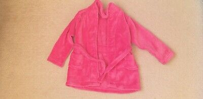 Girls Pink Fluffy Soft Affect Dressing Gown/Robe Age 3/4 Years