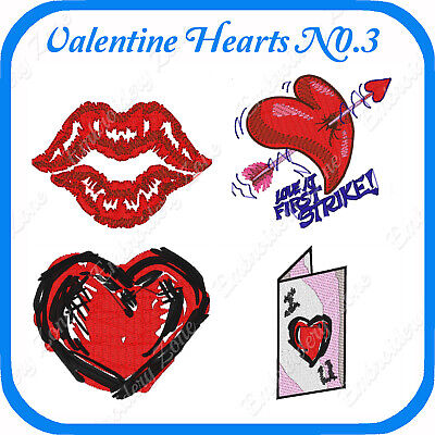 18 Valentine Themed Embroidery Designs On Usb - No 3 - Pes Jef Hus Pcs Xxx Vp3