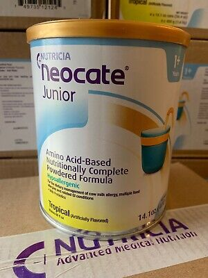 1 Case (4 Cans) Of Neocate Junior Tropical JR - New - FREE PRIORITY SHIPPING
