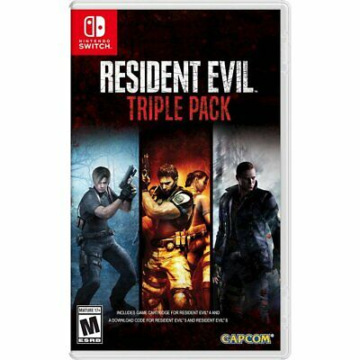 Resident Evil Triple Pack Nintendo Switch Game Sealed Resident Evil 4 5 6