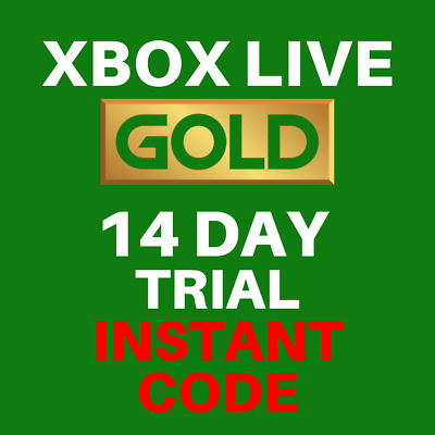 Xbox Live 14 Day Gold Trial Code - Xbox One Only - 2 Weeks - INSTANT TO INBOX