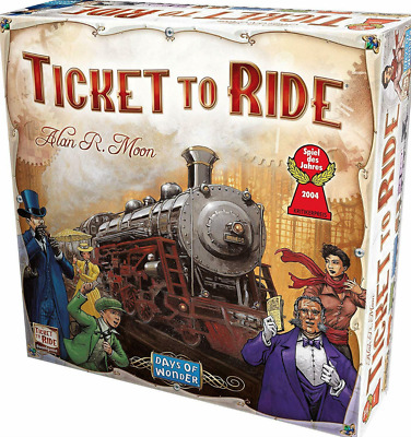 Days of Wonder Ticket To Ride by Alan R. Moon Train Adventure Board Game NEW