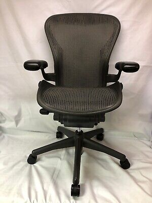 Herman Miller Aeron Graphite Desk Office Chair Adjustable Size B Small Blemish