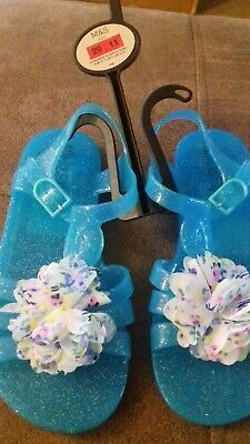 BRAND NEW - GIRLS JELLY SANDLES - SIZE 11 EURO 29 - M&S - h&m bag