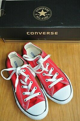 Converse All Star Girls Red canvas sneakers - kids size UK 13 - EXCELLENT