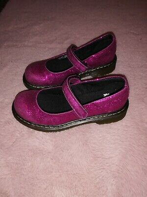 Doc Martens Girls Sparkly Glittery  Shoes 1.5