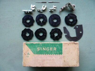 Vintage Singer Sewing Machine Attachments Zipper Foot Hemmer Foot & Others Boxed
