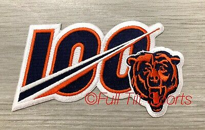 2019 CHICAGO BEARS 100th Anniversary NFL Patch Iron On CORRECT COLORS