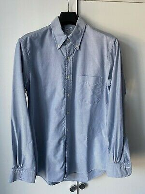 Brooks Brothers Blue Oxford Shirt OCBD Extra Slim Fit Mens 16 - 34 Used Once L