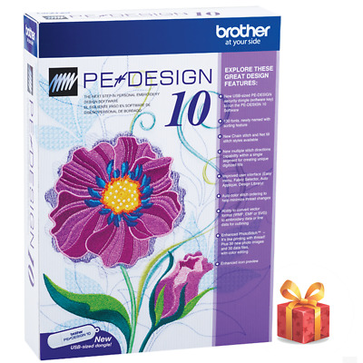 Brother PE Design 10 Embroidery Full Software & Free Gifts| INSTANT DOWNLOAD 🔥