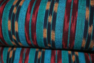 """Vintage Southwest Woven Cotton Upholstery 12 YD. Piece Fabric 45"""" W. Pre Shrunk"""