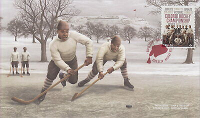 Canada 2020 Black History Colored Hockey Championship First Day Cover