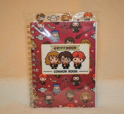 "Chibi Harry Potter Stationery Gryffindor Common Room Notebook 9""X 6"""