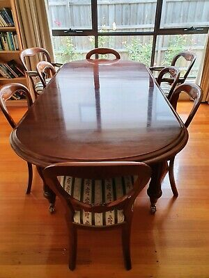 Antique Dining Table (Victorian extendable) and 8 chairs