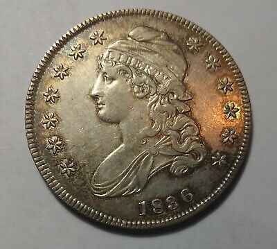 1836 Half Dollar 50C Lettered Edge Capped Bust