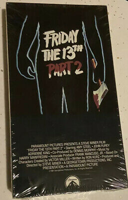 Friday The 13th Part 2 Sealed VHS Horror